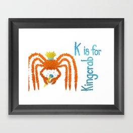 K is for Kingcrab Framed Art Print