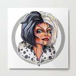 Dark Diva – Cruella De Vil Metal Print