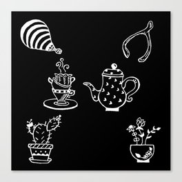 Whimsical Themed Illustration Canvas Print