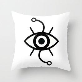 Wondering Eye (Black) Throw Pillow