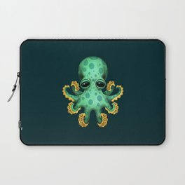Cute Green Baby Octopus Laptop Sleeve