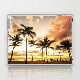 Typical Picturesque Waikiki Beach Sunset Laptop & iPad Skin
