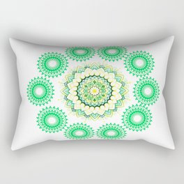 Anahata Flower Mandala Rectangular Pillow