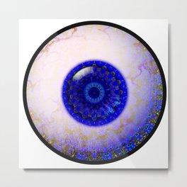Delft Ceramic  Eyball Jewel Metal Print