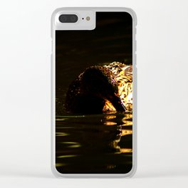 The swimming duck Clear iPhone Case