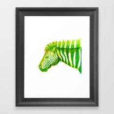 Zebra Watercolor Print Framed Art Print