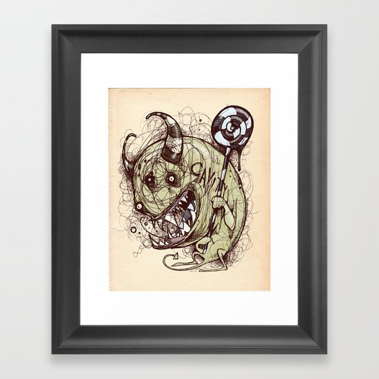 Don't forget to floss Framed Art Print
