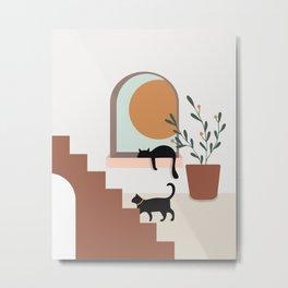 Sunset at Home Metal Print