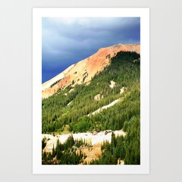 Sunlight Before the Storm, on the Gold Mines of Red Mountain Art Print