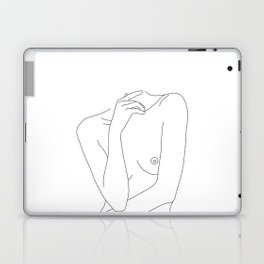 Woman's body line drawing - Cecily Laptop & iPad Skin