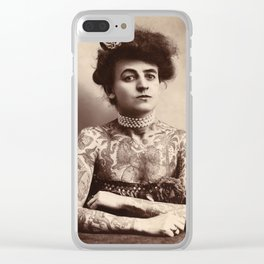 Maud Stevens Wagner Original 1907 Tattooed Lady Clear iPhone Case