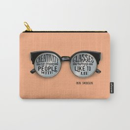 Creativity Quote from Ron Swanson Carry-All Pouch