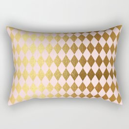 Royal gold on pink backround - Luxury geometrical pattern Rectangular Pillow