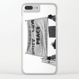 unity, love, peace Clear iPhone Case