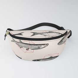 Fishes In Geometrics (Red) Fanny Pack