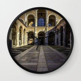 Church Basilica of Sant'Ambrogio in the center of Milan Wall Clock