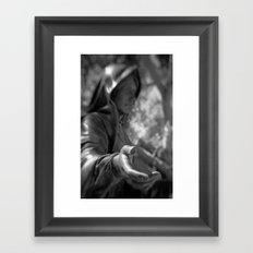 Grab my hand Framed Art Print