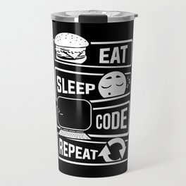 Eat Sleep Code Repeat - Computer Programmer CLI Travel Mug