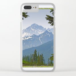 MOUNT LARRABEE FROM HEATHER MEADOWS Clear iPhone Case