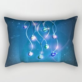 Christmas Jellyfish Rectangular Pillow
