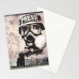 Spray paint - Press gas mask Stationery Cards