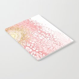 Chakra Sun River - Living-Coral Fluid Glitter Notebook