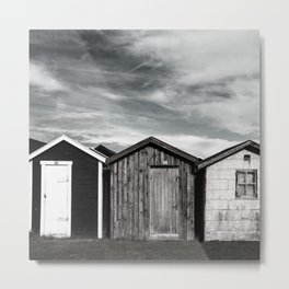 Fishermans home - small huts Metal Print
