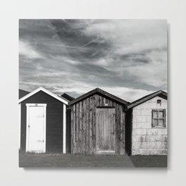 Fishermans home - small huts Metal Print