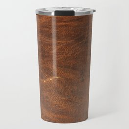 Old Tan Leather Print Texture | Cowhide Travel Mug