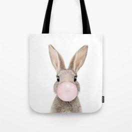 Bubble Gum Rabbit Tote Bag