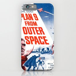 Vintage poster - Plan 9 from Outer Space iPhone Case