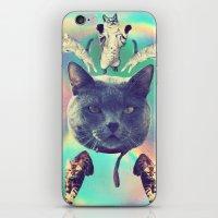 saga iPhone & iPod Skins featuring galactic Cats Saga 3 by Carolina Nino