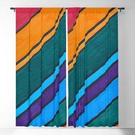 Rainbow Diagonal Color Blocks Blackout Curtain