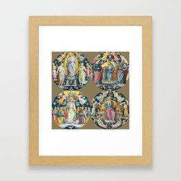 """Raffaello Sanzio da Urbino """"Ceiling Of The Stanza Dell Incendio Del Borgo"""" Framed Art Print"""