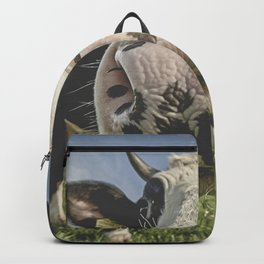 Inquisitive Cow Backpack
