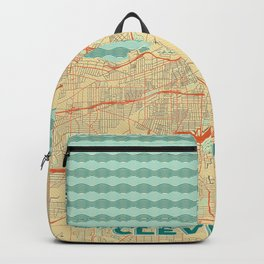 Cleveland Map Retro Backpack