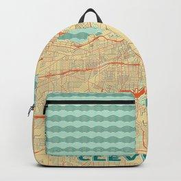 Cleveland Map Retro Backpack