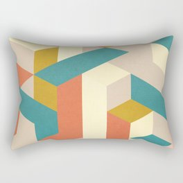 3D Geometry 3 Rectangular Pillow