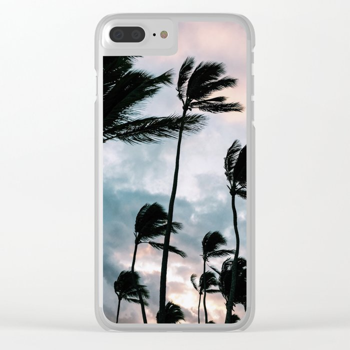Palm trees, Bavaro beach Clear iPhone Case