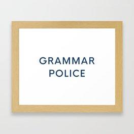 Grammar Police Framed Art Print
