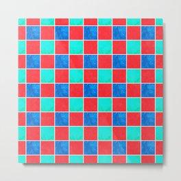 Playful Checkers Metal Print