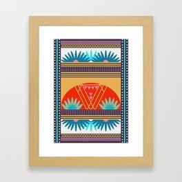 Multi Geometric Love Framed Art Print