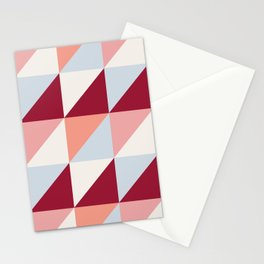 Trio (maroon) Stationery Cards