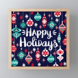 Happy Holidays – Navy Framed Mini Art Print