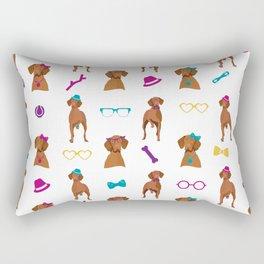 Hungarian Vizsla Pattern Rainbow Rectangular Pillow