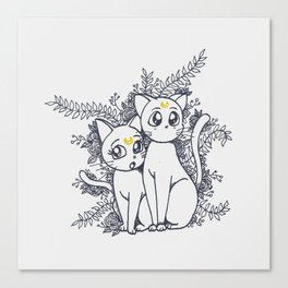 Moon Cats Canvas Print