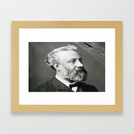 portrait of Jules Verne by Nadar Framed Art Print