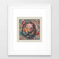 leo Framed Art Prints featuring Leo by Heinz Aimer