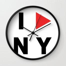 I PLAY NY Wall Clock