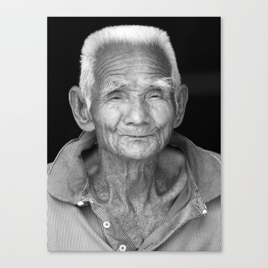 My face tells 1000 stories. Canvas Print